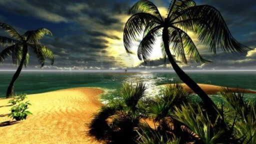 14711407-hawaiian-sunset-in-tropical-paradise